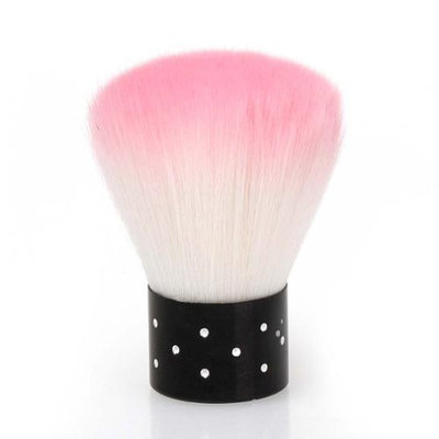 Bundle Monster BMC Pink Colored Synthetic Fiber Acrylic Manicure Dusting Brush Nail Art Tool