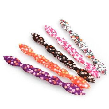Bundle Monster BMC Womens 5 pc Foam Rabbit Ear Hair Tie Accessories - Set 2: Stars + Flowers