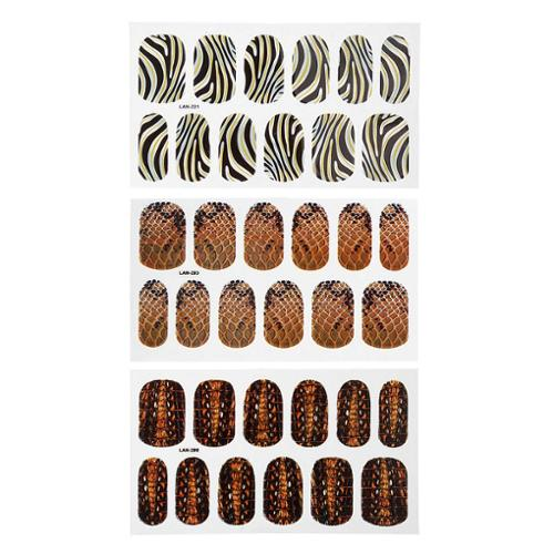 Bundle Monster BMC Mixed Animal Pattern Design Nail Polish Art Decal Sticker Wrap Strips-Set 2
