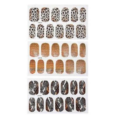 Bundle Monster BMC Mixed Animal Pattern Design Nail Polish Art Decal Sticker Wrap Strips-Set 4