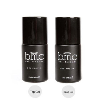 Bundle Monster BMC UV/LED Gel Nail Art Lacquer Polish Top and Base Coat Manicure Essentials Set