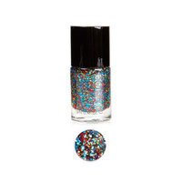 Bundle Monster BMC Multicolor Mix Shapes Finger Nail Art Glitter Polish Lacquer-Sin City