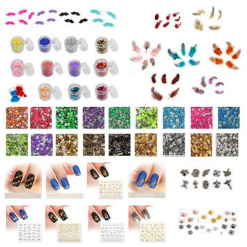 Bundle Monster BMC Mystery Surprise 15 Mix Types Nail Art Glitters Stickers Cabochons Studs Kit