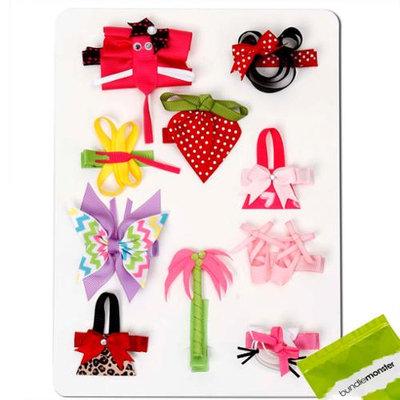 Bundle Monster 10pc Animal Ballet Shoes Bags Design Ribbon Toddler Hair Clips