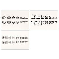 Bundle Monster BMC Cute Drop 3pc Mixed Design Water Transfer Cuticle Tattoo Nail Art Stickers