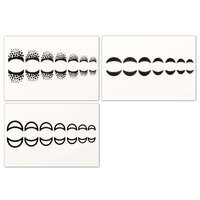 Bundle Monster BMC Cute Moon 3pc Mixed Design Water Transfer Cuticle Tattoo Nail Art Stickers