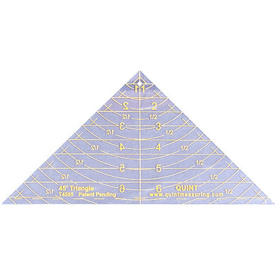 Quint Measuring Systems Reverse-A-Ruler Triangle-45 Degrees