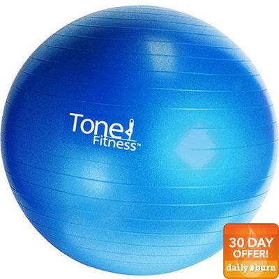 Cap Barbell HHE-TN065 Tone Fitness 65cm Burst Resistance Exercise Ball - DVD Included