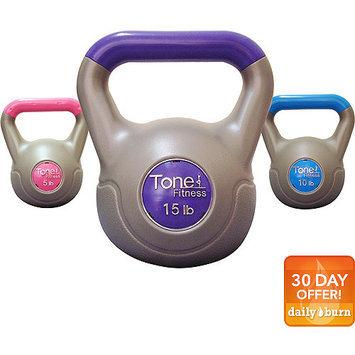 Tonefitness Tone Fitness 30 lb Vinyl Cement Kettlebell Set