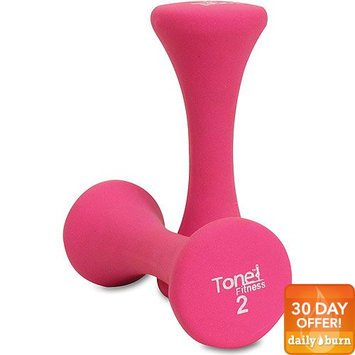CAP Barbell SDNHP-TN004 Tone Fitness 4 lb Pair of Hourglass Shaped Dumbbells