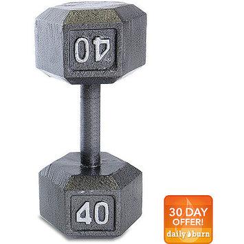 Tone Fitness CAP Barbell 40 lb Grey Cast Iron Hex Dumbbell