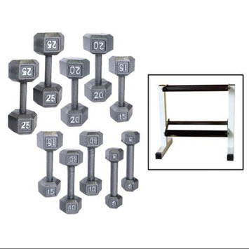 CAP Barbell 150 lb. Hex Dumbbell Set with Rack