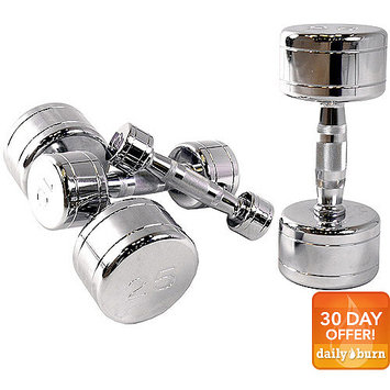 Tone Fitness CAP Barbell Chrome Dumbbell with Contoured Handle