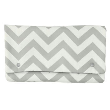 Brownie Gifts Gray Chevron Diaper Clutch