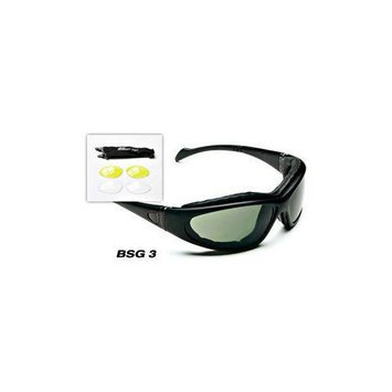 Body Specs Bsg-3-Black.13 Pkg Shiny Black Frame-Package Goggles