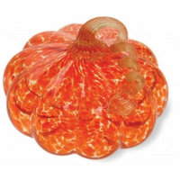 Boston International DLA14101 Orange Glass Pumpkin - Medium