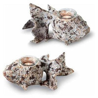 October Hill HA13405 Rustic Fish Tealight Pair