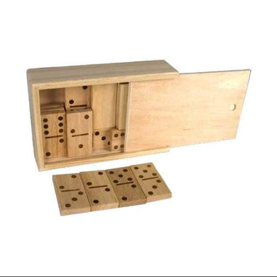 Chh Games Double 6 Wooden Domino in Wooden Case