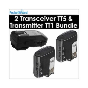 Pocket Wizard Flex Transceiver TT5 Kit of 2 with 1 801140 Mini TT1 Transmitter - 801150
