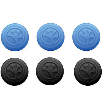 Brittany Records 008GRII6 Analog Stick Covers 6-Pack Black and Blue