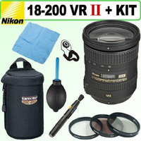 Nikon 18-200mm F/3.5-5.6G AF-S ED VR II Telephoto Zoom Lens Deluxe Accessory Bundle