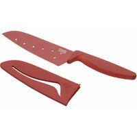 Kuhn Rikon Corporation Kuhn Rikon 5 Red Nonstick Santoku Knife