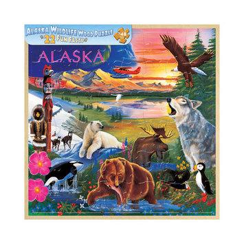 Masterpieces 20307 Alaska Wildlife Fun Facts Kid's Puzzle- 48 Pieces