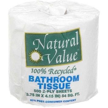 Natural Value BG16229 Natural Value Bth Tiss 500 Sht-Roll - 48x1Each