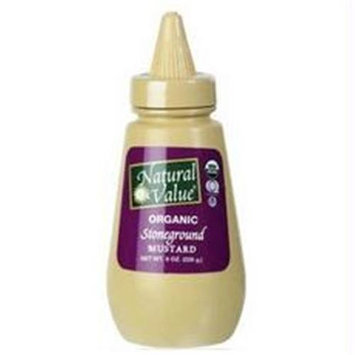 Natural Value Organic Stoneground Mustard Squeeze Bottle (12x12/8 Oz)