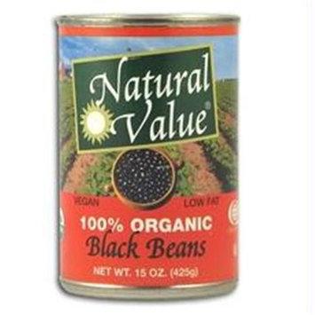 Natural Value B39841 Natural Value Organic Black Beans -12x15oz