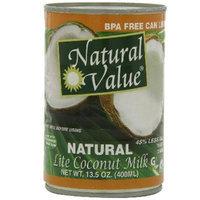 Natural Value BG16238 Natural Value Lite Coconut Milk - 12x13.5OZ