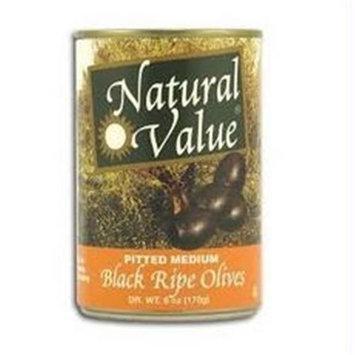 Natural Value Pitted Medium Black Olives (12x12/6 Oz)