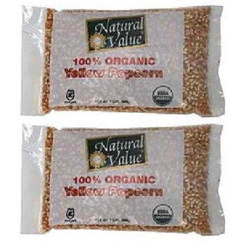 Natural Value BG16213 Natural Value Yellow Popcorn - 12x2LB