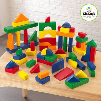 KidKraft 60-Piece Wooden Block Set, Primary Colors