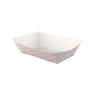 Boardwalk Paper Food Trays Red Weave