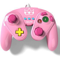 Wired Fight Pad Controller for Nintendo Wii U - Princess Peach