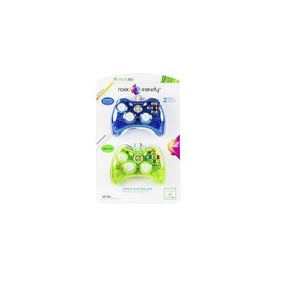 Rock Candy Wired Controller for Xbox 360 - 2 Pack
