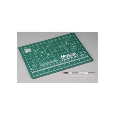 Builder's Cutting Mat 9x12 w/Hobby Knife HCAR0443 HOBBICO