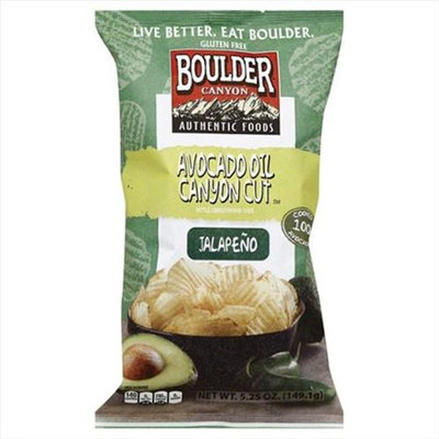 Boulder Canyon 5.25 oz. Canyon Cut Kettle Cooked Chips - Avocado Oil - Case Of 12
