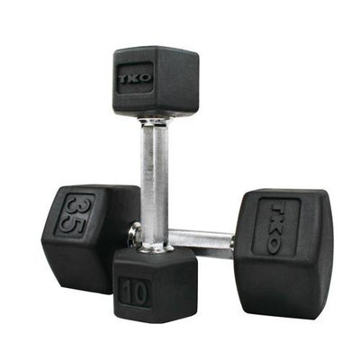 TKO Tri-Grip Hex Dumbbell 3 Lbs, Rubber Coated