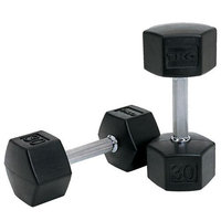 TKO 65 lb. SDS Rubber Hex Dumbbell