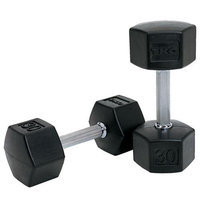 TKO 75 lb. SDS Rubber Hex Dumbbell