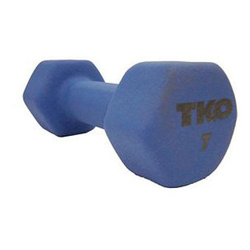 TKO 7 lb. Neoprene Dumbbell with Tri-Grip Handle