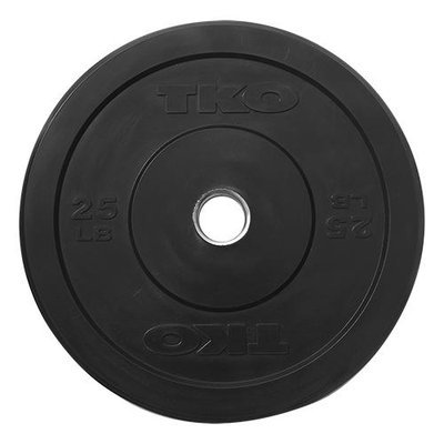 TKO 25 lb. Rubber Bumper Plate