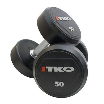 TKO Dumbbell Set 5-50 Lbs, Urethane Coated
