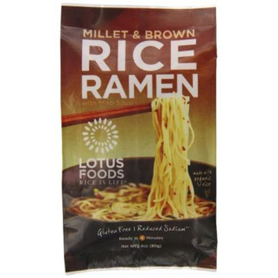 Lotus Foods - Rice Ramen with Miso Soup Millet & Brown - 2.8 oz.