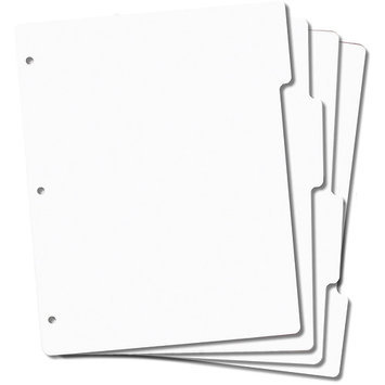 Crafters Companion Tabbed Rubber Stamp Storage Panels 4/Pkg 8.5