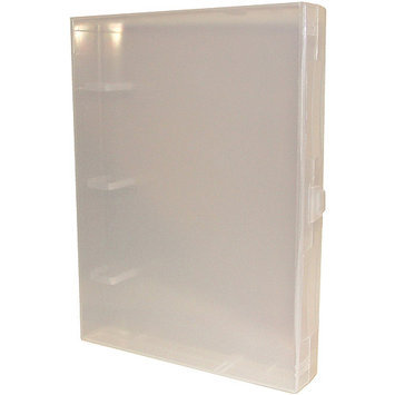 Crafters Companion SS20 EZBinder Clear Enclosed Mini Binder, 7-Inch x 9.5-Inch x 1.25-Inch, Multi-Colored