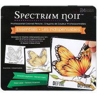 Crafters Companion Spectrum Noir Blendable Pencils 24pc Set-Essential Colors