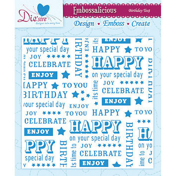 Crafters Companion EF6-CHRRY Embossalicious Embossing Folders 6 in. X6 in. -Cherry-Licious